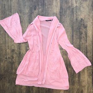 Sweaters - 3 for $25 Pink bell sleeve cardigan